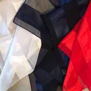 Vintage 1980s Scarfs Red White Blue